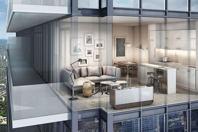 The College Condominium at Spadina at 297 College Street, Toronto, Ontario. Image 1