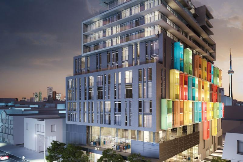 The College Condominium at Spadina at 297 College Street, Toronto, Ontario. Image 2