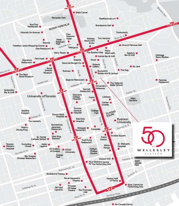 50 at Wellesley Station (50 Wellesley) at 50 Wellesley St E, Toronto, Ontario. Image 9