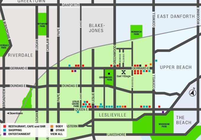 East Village Leslieville at 1321 Gerrard St East, Toronto, Ontario. Image 1