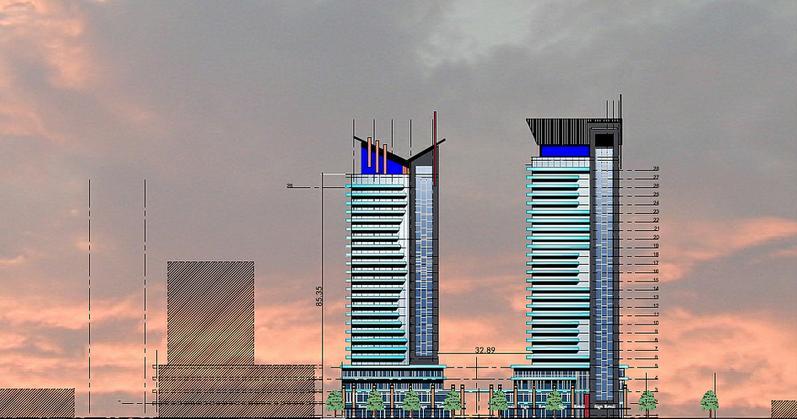 Summitview Towers at Hurontario Street and Eglinton Avenue W, Mississauga, Ontario. Image 1