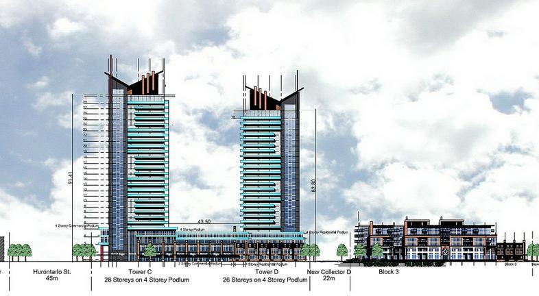 Summitview Towers at Hurontario Street and Eglinton Avenue W, Mississauga, Ontario. Image 2
