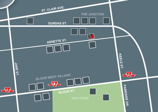 Victoria Lofts at 152 Annette Street, Toronto, Ontario. Image 4
