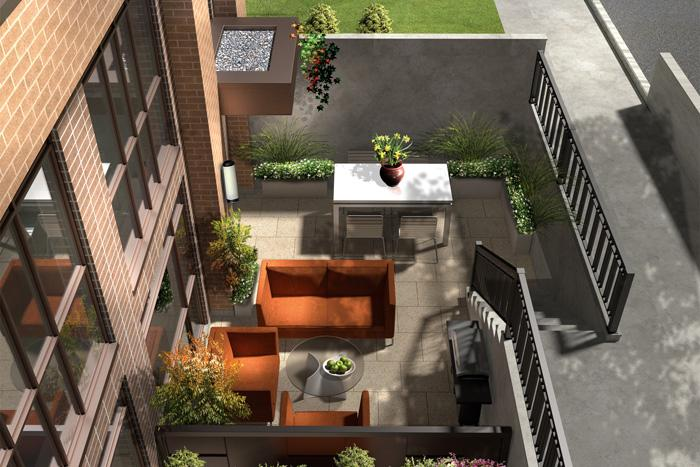 LA Courtyards at 639 Lawrence Avenue West, Toronto, Ontario. Image 2