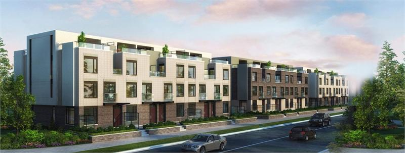 The Towns at Parkside Village at Burnhamthorpe Road West & Confederation Parkway, Mississauga, Ontario. Image 2