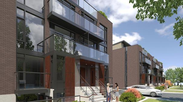 Oggi Boutique Townhomes at 5289 Highway 7, Vaughan, Ontario. Image 1