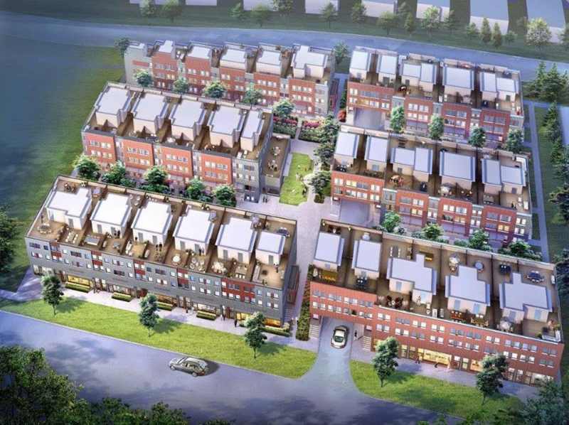 Yorkdale Village Townhomes Phase 2 at Wilson Avenue & Ancaster Road, Toronto, Ontario. Image 4