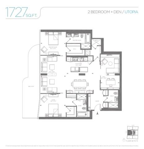 Condo Apartment at 1 Bloor St E, Unit 7405, Toronto, Ontario. Image 8