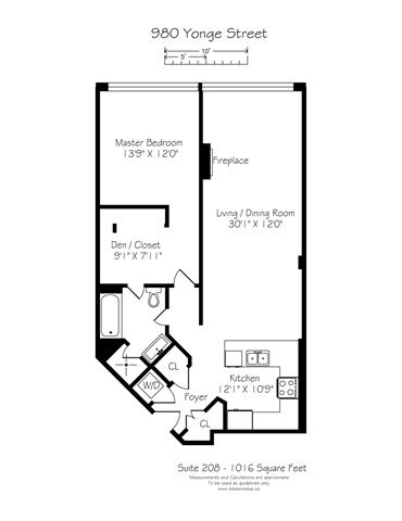 Condo Apartment at 980 Yonge St, Unit 208, Toronto, Ontario. Image 12