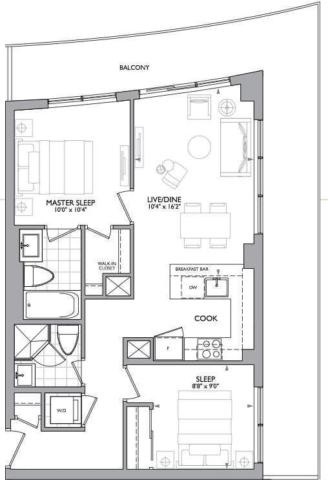 Condo Apartment at 89 Dunfield Ave, Unit 1705, Toronto, Ontario. Image 3