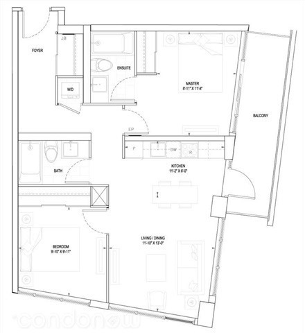 Condo Apartment at 161 Eglinton Ave E, Unit 1810, Toronto, Ontario. Image 2