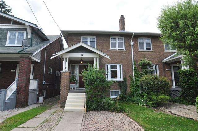 Semi-detached at 107 Moore Ave, Toronto, Ontario. Image 1