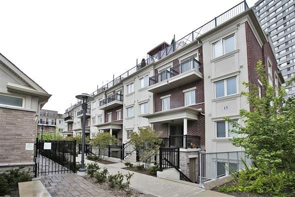 Condo Townhouse at 15 Coneflower Cres, Unit #241, Toronto, Ontario. Image 1