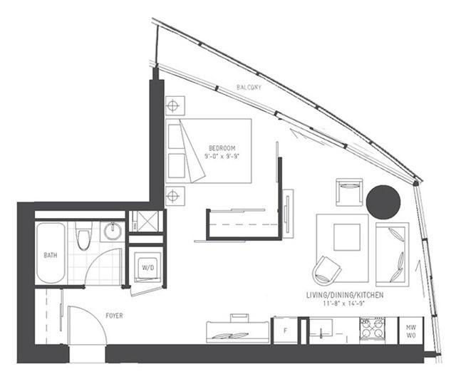 Condo Apartment at 14 York St, Unit 5311, Toronto, Ontario. Image 4