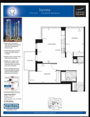 Condo Apartment at 5162 Yonge St, Unit 1709, Toronto, Ontario. Image 13