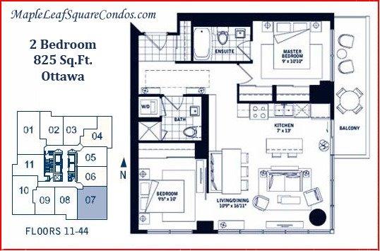 Condo Apartment at 55 Bremner Blvd, Unit 1307, Toronto, Ontario. Image 6