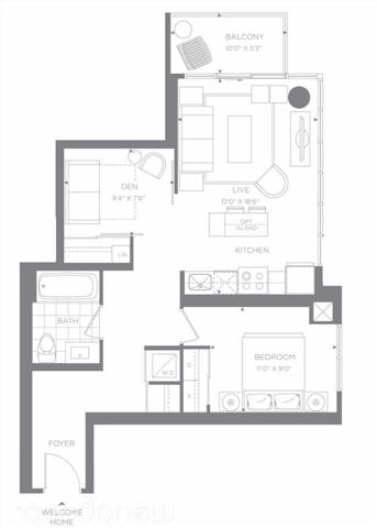 Condo Apartment at 88 Sheppard Ave E, Unit 605, Toronto, Ontario. Image 10