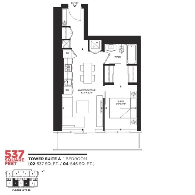 Condo Apartment at 159 Dundas St E, Unit 3104, Toronto, Ontario. Image 14