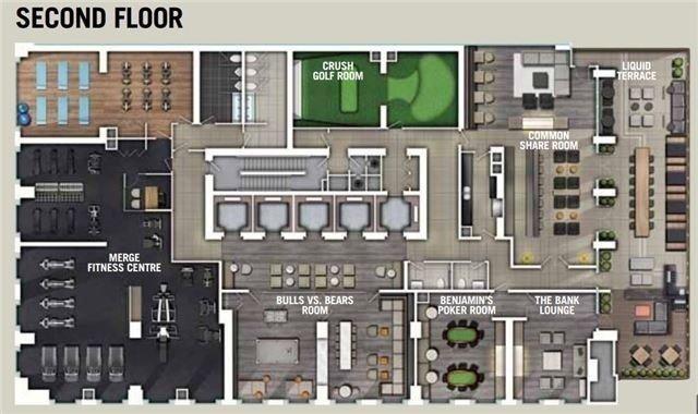 Condo Apartment at 70 Temperance St, Unit 1204, Toronto, Ontario. Image 2