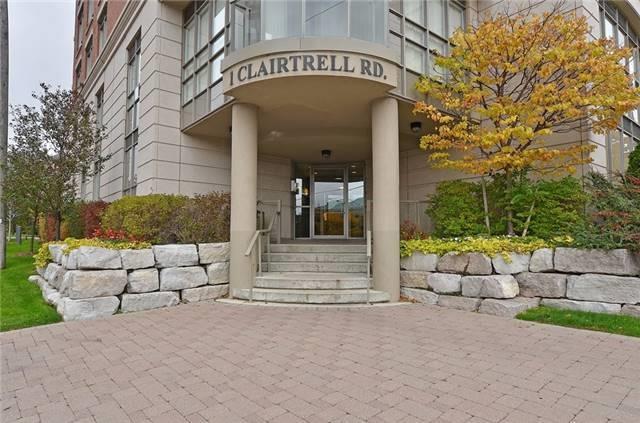 Condo Apartment at 1 Clairtrell Rd, Unit 506, Toronto, Ontario. Image 1