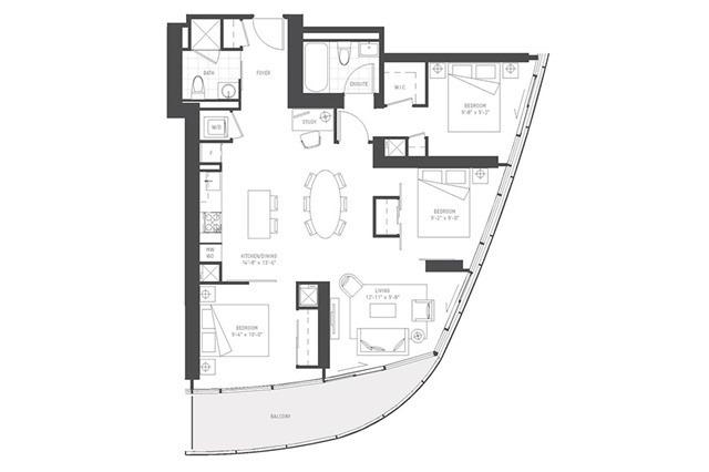 Condo Apartment at 14 York St, Unit 5503, Toronto, Ontario. Image 9