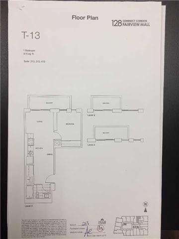 Condo Apartment at 128 Fairview Mall Dr, Unit 213, Toronto, Ontario. Image 3