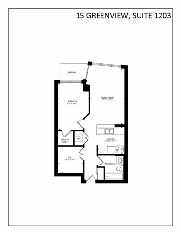 Condo Apartment at 15 Greenview Ave, Unit 1203, Toronto, Ontario. Image 6