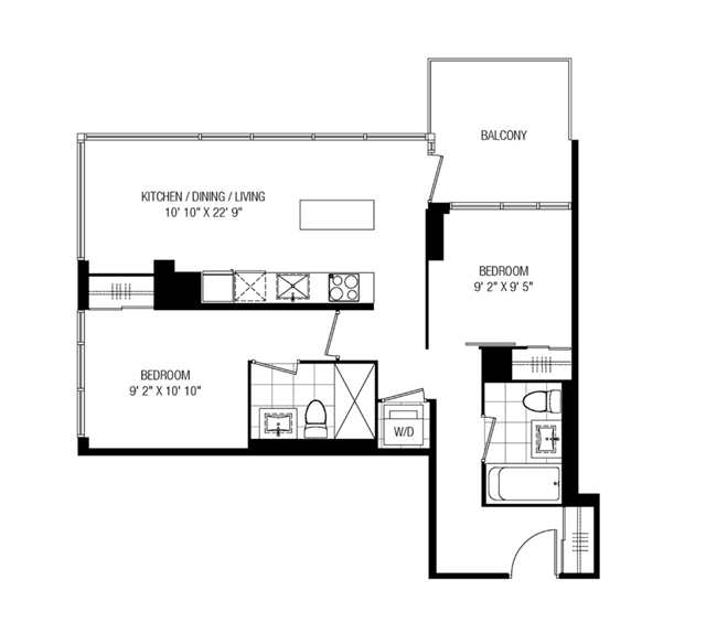 Condo Apartment at 30 Nelson St, Unit 2104, Toronto, Ontario. Image 4