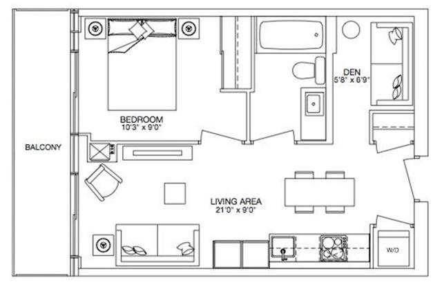 Condo Apartment at 8 Eglinton Ave E, Unit 5808, Toronto, Ontario. Image 6