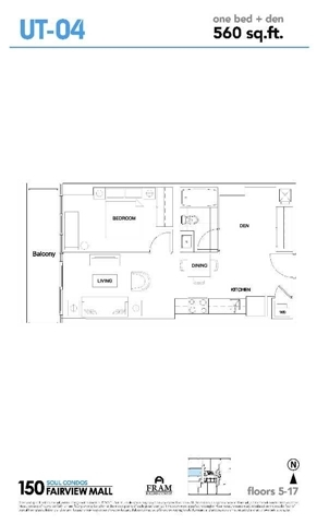 Condo Apartment at 150 Fairview Mall Dr, Unit 704, Toronto, Ontario. Image 8
