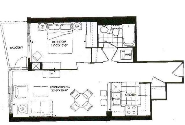 Condo Apartment at 16 Yonge St, Unit 1913, Toronto, Ontario. Image 14