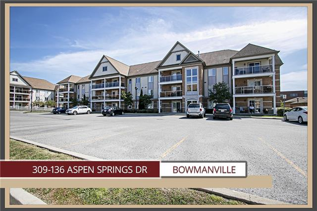 Condo Apartment at 136 Aspen Springs Dr, Unit 309, Clarington, Ontario. Image 1