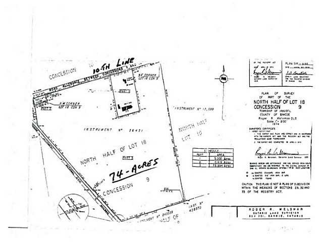 Vacant Land at Lt 18 10th Line, Innisfil, Ontario. Image 7