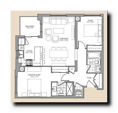 Condo Apartment at 24 Woodstream Blvd, Unit 312, Vaughan, Ontario. Image 8