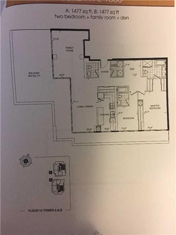 Condo Apartment at 9600 Yonge St, Unit Ph1, Richmond Hill, Ontario. Image 1