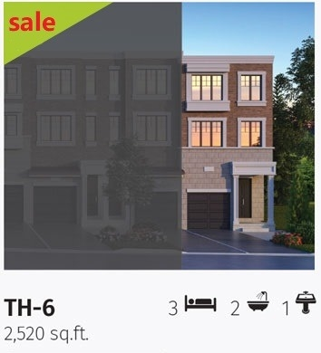 Townhouse at 6226 16th Ave E, Unit Lot#42, Markham, Ontario. Image 1