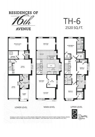 Townhouse at 6226 16th Ave E, Unit Lot#42, Markham, Ontario. Image 3