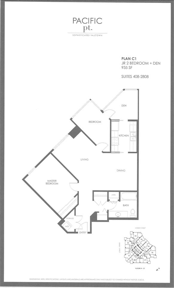 Condo Apartment at 1908 1323 HOMER STREET, Unit 1908, Vancouver West, British Columbia. Image 12