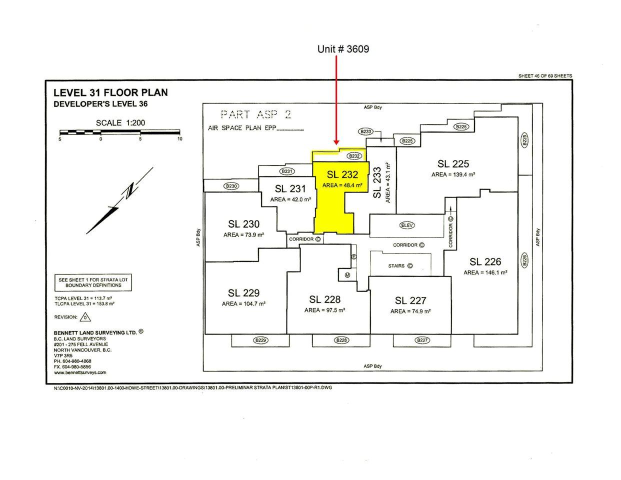 Condo Apartment at 3609 1480 HOWE STREET, Unit 3609, Vancouver West, British Columbia. Image 3