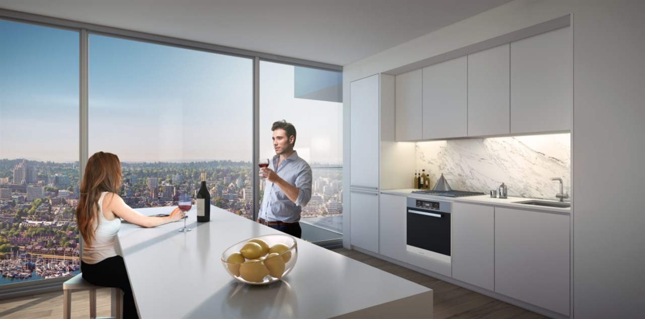 Condo Apartment at 4610 1480 HOWE STREET, Unit 4610, Vancouver West, British Columbia. Image 2