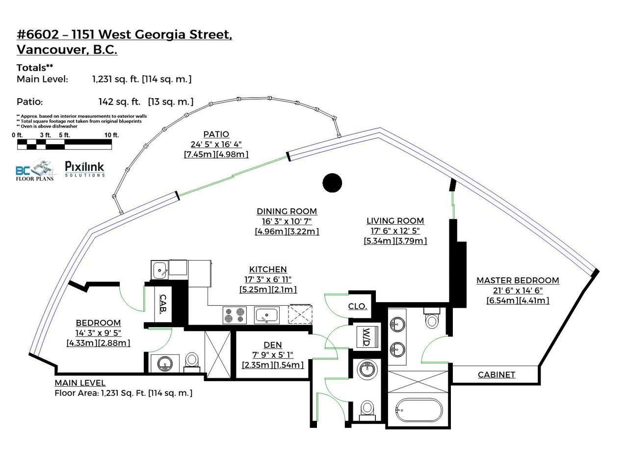 Condo Apartment at 6602 1151 W GEORGIA STREET, Unit 6602, Vancouver West, British Columbia. Image 15