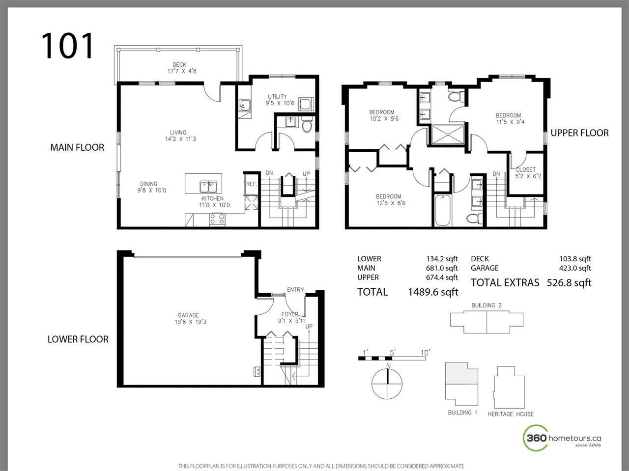 Half-duplex at 101 1105 CARTIER AVENUE, Unit 101, Coquitlam, British Columbia. Image 2