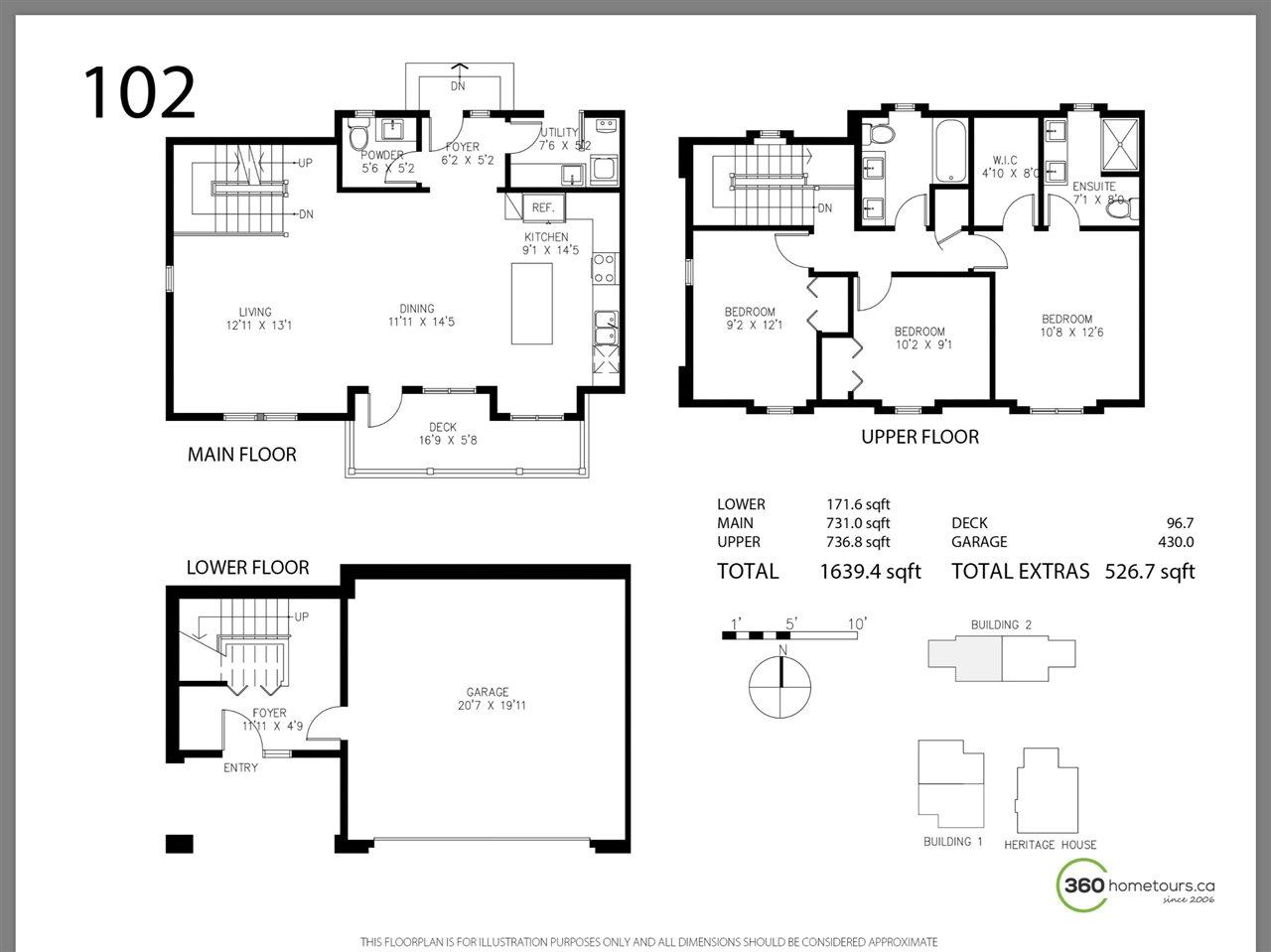 Half-duplex at 102 1105 CARTIER AVENUE, Unit 102, Coquitlam, British Columbia. Image 2
