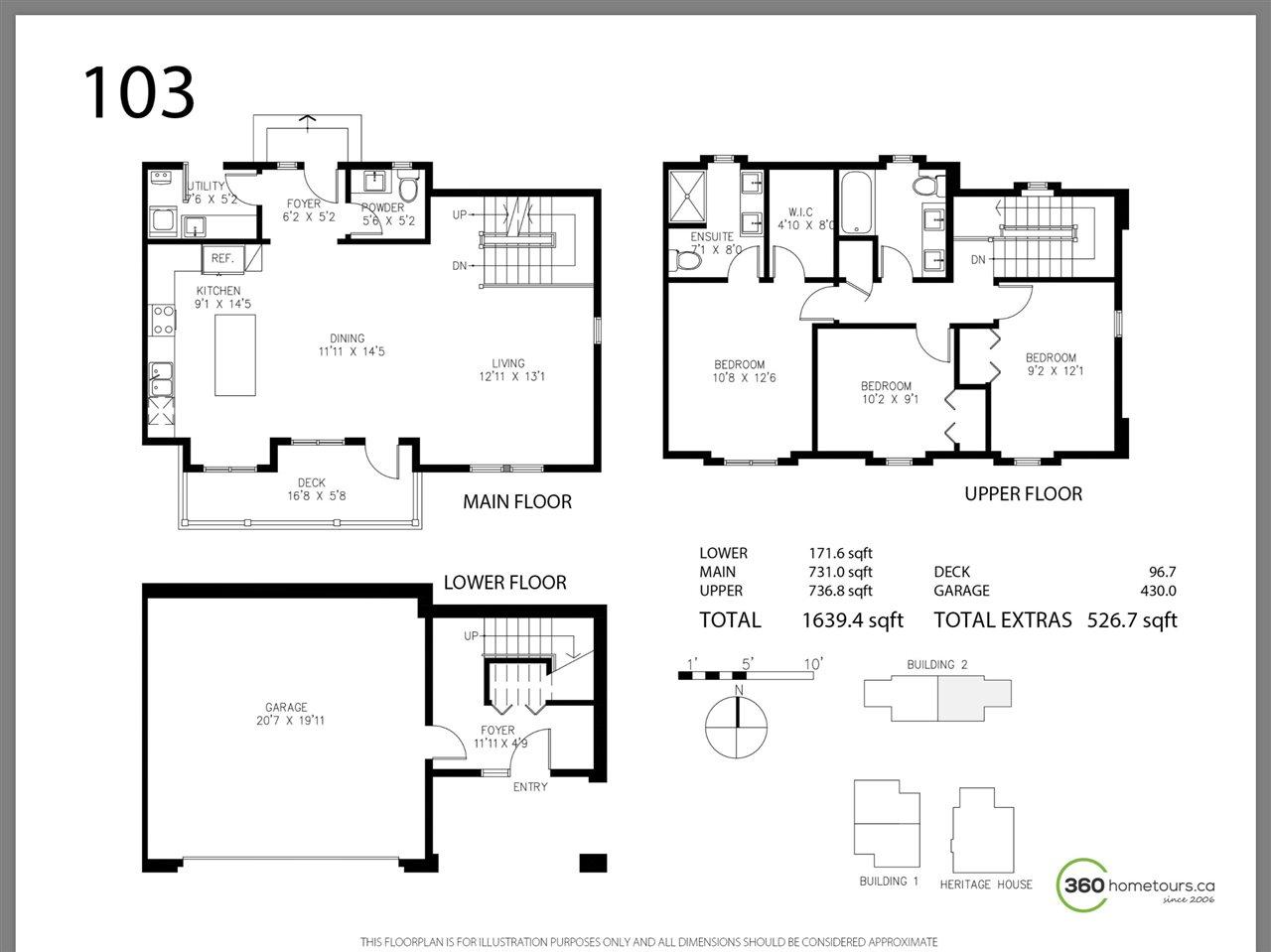 Half-duplex at 103 1105 CARTIER AVENUE, Unit 103, Coquitlam, British Columbia. Image 2