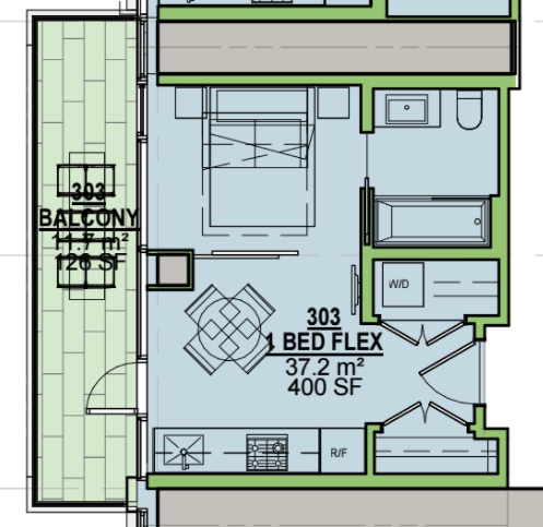Condo Apartment at 303 1480 HOWE STREET, Unit 303, Vancouver West, British Columbia. Image 9
