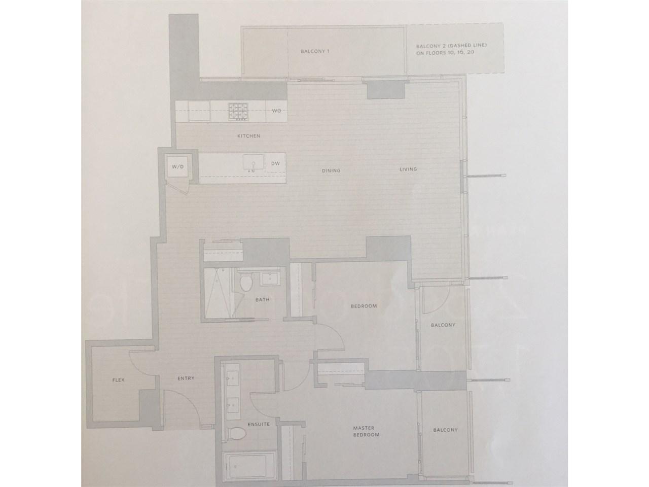 Condo Apartment at 1709 777 RICHARDS STREET, Unit 1709, Vancouver West, British Columbia. Image 2