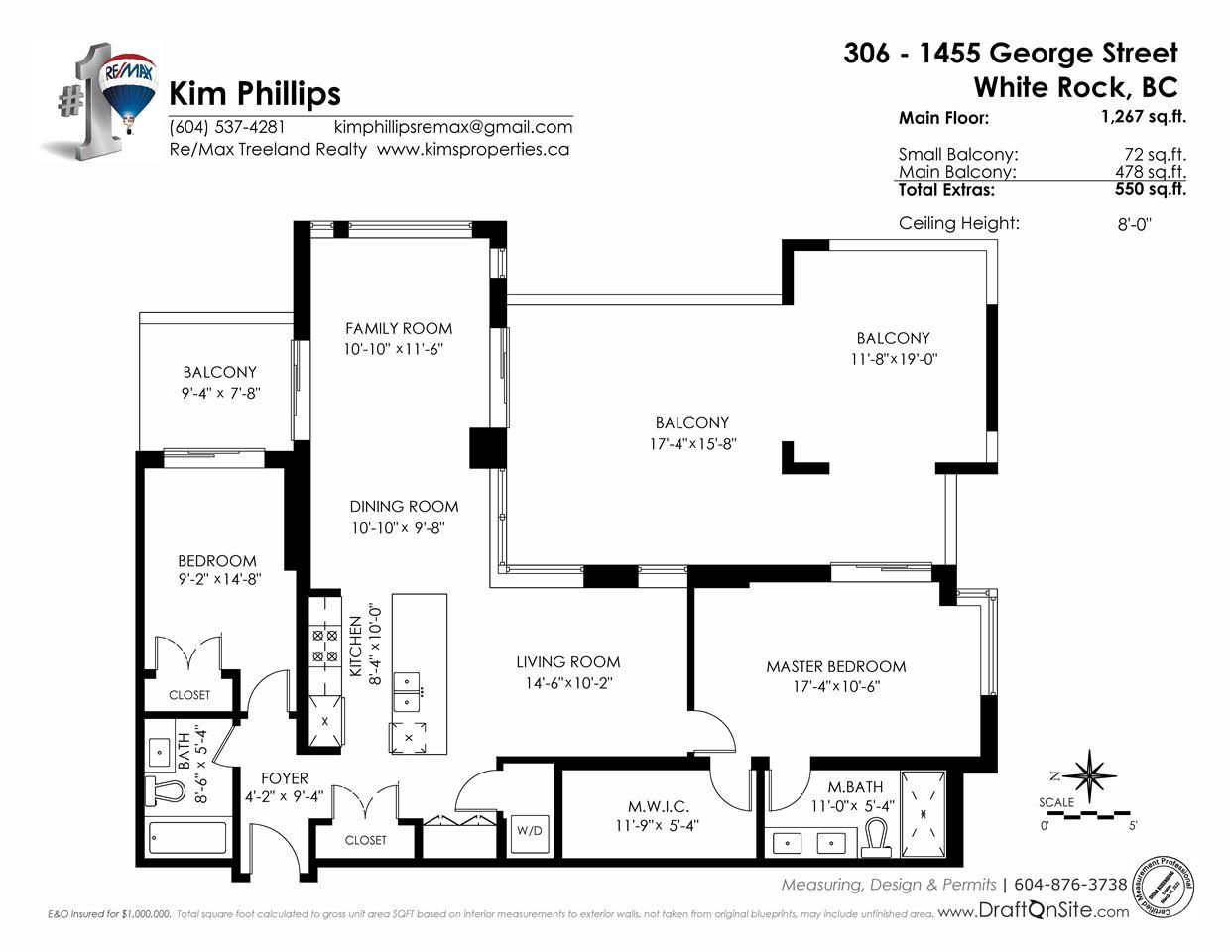 Condo Apartment at 306 1455 GEORGE STREET, Unit 306, South Surrey White Rock, British Columbia. Image 20