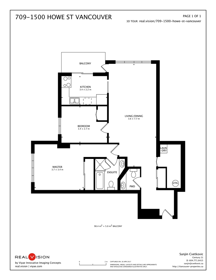Condo Apartment at 709 1500 HOWE STREET, Unit 709, Vancouver West, British Columbia. Image 20