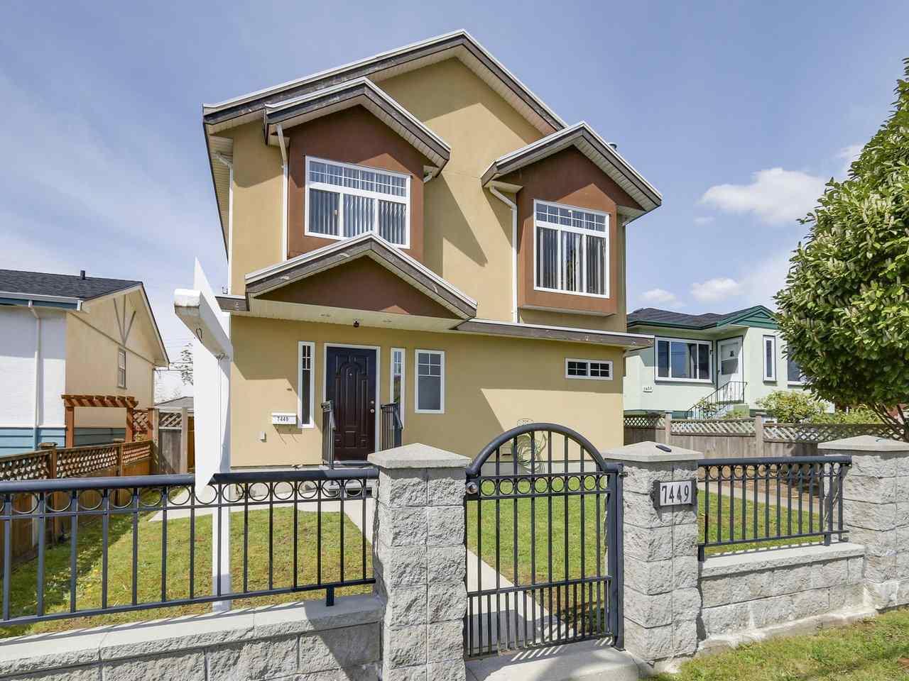 Half-duplex at 7449 MAIN STREET, Vancouver East, British Columbia. Image 1