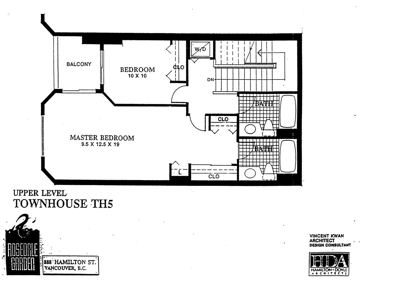 Townhouse at 105 287 SMITHE STREET, Unit 105, Vancouver West, British Columbia. Image 2